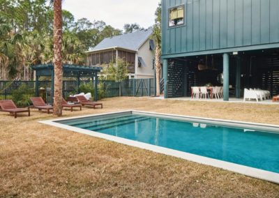 Exterior of 405 West Indian Avenue on Folly Beach with heated swimming pool